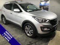 "USED 2012 62 HYUNDAI SANTA FE 2.2 PREMIUM CRDI 5d 194 BHP Satellite Navigation      :      USB & AUX Sockets      :      Phone Bluetooth Connectivity      Full Black Leather Upholstery   :   Heated Front Seats   :   Rear Parking Sensors with Camera      18"" Alloy Wheels   :   2 Keys   :   Comprehensive Service History"