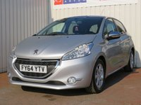 USED 2014 64 PEUGEOT 208 1.6 E-HDI STYLE 5d 92 BHP ZERO ROAD TAX