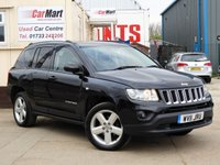 USED 2011 11 JEEP COMPASS 2.1 CRD LIMITED 4WD 5d 161 BHP HEATED LEATHER SEATS | BLUETOOTH | CRUISE CONTROL