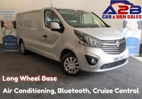2016 VAUXHALL VIVARO 1.6 2900 CDTI SPORTIVE 115 BHP, Long Wheel Base, 3 Seats, Air Conditioning, Bluetooth, Cruise Control, Rear Parking Sensors, DAB Radio, Ply Lined £9980.00