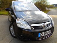 USED 2011 60 VAUXHALL ZAFIRA 1.7 ELITE CDTI ECOFLEX 5d 108 BHP ** ONE PREVIOUS OWNER , DIESEL, 7 SEATER, FULL LEATHER **