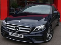 USED 2016 16 MERCEDES-BENZ E CLASS E220D 2.0 AMG LINE 4d 9G-TRONIC S/S PROFESSIONAL SAT NAV, PARK ASSIST, REAR VIEW CAMERA WITH WIDE ANGLE, FRONT & REAR PARKING SENSORS WITH DISPLAY, LED LIGHTS, 19 INCH TWIN 5 SPOKE ALLOYS, PRIVACY GLASS, BLACK LEATHER ALCANTARA UPHOLSTERY, HEATED FRONT SEATS, SPORT SEATS, DYNAMIC CHASSIS CONTROL, DAB RADIO, BLUETOOTH PHONE & MUSIC STREAMING, USB PORTS x2, SD CARD READER, CRUISE CONTROL WITH SPEED LIMITER, LIGHT & RAIN SENSORS WITH AUTO DIMMING REAR VIEW MIRROR, FLAT BOTTOM TIPTRONIC MULTIFUNCTION STEERING WHEEL, AMBIENT LIGHTING