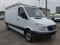 2013 MERCEDES-BENZ SPRINTER 313 CDI MWB LOW ROOF, 130 BHP [EURO 5] £8495.00