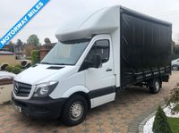 USED 2015 15 MERCEDES-BENZ SPRINTER 2.1 313 CDI 129 BHP 13FT 6IN CURTAINSIDER 1 OWNER+ MOTORWAY MILES+
