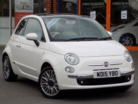 USED 2015 15 FIAT 500 1.2 Lounge 3dr ** Pan Roof + Bluetooth **