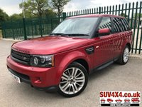 USED 2012 12 LAND ROVER RANGE ROVER SPORT 3.0 SDV6 SE 5d AUTO 255 BHP AUTOBIOGRAPHY SPEC NAV ALLOYS CRUISE LEATHER PARKING CAM MOT 04/20  4WD. SATELLITE NAVIGATION. STUNNING RED MET WITH FULL BEIGE LEATHER TRIM. ELECTRIC HEATED SEATS. CRUISE CONTROL. ELECTRIC TAILGATE. AUTOBIOGRAPHY SPEC. 20 INCH ALLOYS. COLOUR CODED TRIMS. PRIVACY GLASS. BLUETOOTH PREP. PARKING SENSORS. REVERSING CAMNERA. CLIMATE CONTROL INCLUDING AIR CON. R/CD PLAYER. DAB RADIO. MEDIA CONNECTIVITY. MFSW. MOT 04/20. SERVICE HISTORY. PRESTIGE SUV CENTRE - LS24 8EJ. TEL 01937 849492 OPTION 1