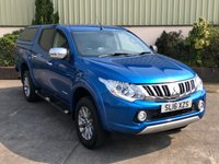 USED 2016 16 MITSUBISHI L200 2.4 DI-D 4X4 WARRIOR DCB 1d 178 BHP LEATHER, SAT NAV, REVERSE CAMERA, CANOPY, IMMACULATE CONDITION