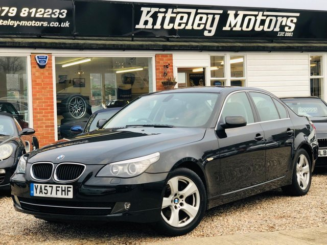 2008 57 BMW 5 SERIES 520d SE AUTOMATIC PROFESSIONAL NAVIGATION/MEDIA PACK