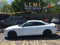 USED 2015 15 AUDI A5 2.0 TDI BLACK EDITION PLUS 2d AUTO 177 BHP STUNNING IBIS WHITE PAINT WORK, S LINE BLACK LEATHER INTERIOR, CRUISE CONTROL, SAT NAV, DAB, BANG AND OLUFSEN SPEAKERS, 19 INCH BLACK  ALLOYS, HEATED SEATS, MASSIVE SPEC, AUDI SERVICE HISTORY