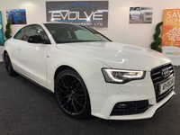 2015 AUDI A5 2.0 TDI BLACK EDITION PLUS 2d AUTO 177 BHP £17799.00