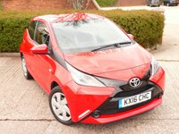 USED 2016 16 TOYOTA AYGO 1.0 VVT-I X-PLAY 5d 69 BHP FULL SERVICE HISTORY WITH SERVICES AT 11K, 22K, 32K, 44K & 51K. FREE ROAD TAX, BLUETOOTH MUSIC STREAMING. AIR CONDITIONING, SPEED LIMITER, SUPERB FUEL ECONOMY - 55 MILES PER GALLON DAY TO DAY DRIVING, MANUFACTURERS WARRANTY MARCH 2021  ALL OUR CARS ARE FULLY PREPARED TO INCLUDE A NEW MOT WITH NO ADVISORIES, A FULL VALET, AND  A 6 MONTH MAJOR MECHANICAL BREAKDOWN WARRANTY. NEED FINANCE? WE ARE FINANCE SPECIALISTS AND HAVE A RANGE OF PACKAGES TO SUIT ALL BUDGETS