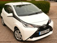 USED 2016 16 TOYOTA AYGO 1.0 VVT-I X-PLAY 5d 69 BHP FULL SERVICE HISTORY WITH SERVICES AT 11K, 24K, 36K, 48K & 51K. FREE ROAD TAX, BLUETOOTH MUSIC STREAMING. AIR CONDITIONING, SPEED LIMITER, SUPERB FUEL ECONOMY - 55 MILES PER GALLON DAY TO DAY DRIVING, MANUFACTURERS WARRANTY MARCH 2021  ALL OUR CARS ARE FULLY PREPARED TO INCLUDE A NEW MOT WITH NO ADVISORIES, A FULL VALET, AND  A 6 MONTH MAJOR MECHANICAL BREAKDOWN WARRANTY. NEED FINANCE? WE ARE FINANCE SPECIALISTS AND HAVE A RANGE OF PACKAGES TO SUIT ALL BUDGETS