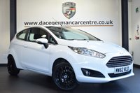 USED 2013 62 FORD FIESTA 1.2 ZETEC 3DR 81 BHP FINISHED IN STUNNING WHITE WITH GREY CLOTH UPHOLSTERY + BLUETOOTH + MULTI FUNCTION STEERING WHEEL + FM RADIO + ELECTRIC MIRRORS + AIR CONDITIONING + CD/AUX/USB MEDIA + 15 INCH ALLOY WHEELS