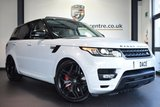 "USED 2015 15 LAND ROVER RANGE ROVER SPORT 3.0 SDV6 AUTOBIOGRAPHY DYNAMIC 5DR 306 BHP full service history FINISHED IN STUNNING YULONG WHITE WITH FULL VENEER-GRAND LEATHER INTERIOR + FULL SERVICE HISTORY + SATELLITE NAVIGATION + FULL PANORAMIC ROOF + BLUETOOTH + REAR-VIEW CAMERA + HEATED STEERING WHEEL + HEATED/COOLED SEATS WITH MEMORY + HEATED REAR SEATS + XENON LIGHTS + DIGITAL TV + ELECTRIC POWERED SIDE STEPS + DAB RADIO + VIRTUAL COCKPIT + MERIDIAN SOUND SYSTEM + LIGHTING PACKAGE + HIGH BEAM ASSIST + 4 ZONE AIR CON + 22"" ALLOY WHEELS"