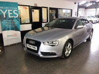 USED 2014 64 AUDI A5 2.0 SPORTBACK TDI SE 5d AUTO 177 BHP This A5 Sportback is finished in floret silver meatllic with full Black heated seats. It is fitted with power steering, remote locking, electric windows, mirrors, dual zone climate control, cruise control, reverse camera with sensors, heated front seats, Audi Satellite Navigation, Bluetooth, privacy glass, day lights, auto lights, Alloy wheels, DAB CD Stereo with media port and more. It comes with a full and complete Audi service history consisting of a digital printout.