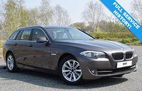 USED 2011 61 BMW 5 SERIES 2.0 520D SE TOURING 5d 181 BHP FULL SERVICE HISTORY! BRONZE! CREAM LEATHER! BLUETOOTH!