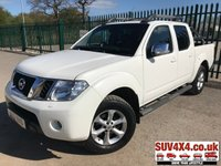 USED 2011 61 NISSAN NAVARA 2.5 DCI TEKNA 4X4 DCB 1d 188 BHP LEATHER SIDE STEPS NO VAT NO VAT. 4WD. STUNNING WHITE WITH FULL GREY LEATHER TRIM. ELECTRIC HEATED SEATS. CRUISE CONTROL. SUN ROOF. CLIMATE CONTROL INCLUDING AIR CON. RUNNING BOARDS. 17 INCH ALLOYS. COLOUR CODED TRIMS. PRIVACY GLASS. ROOF RACK/RAILS. CHROME BARS. BLUETOOTH PREP. PAS. R/CD PLAYER. MFSW. TOWBAR. MOT 09/19. AGE/MILEAGE RELATED SALE. PICK-UP & VAN CENTRE- LS23 7FQ. TEL 01937 849492 OPTION 3