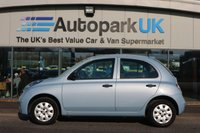 USED 2006 06 NISSAN MICRA 1.2 URBIS 5d 80 BHP 25% DEPOSIT SHORTFALL SHORT TERM FINANCE AVAILABLE TO ALL (NO CREDIT CHECKS)  *