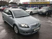 2008 TOYOTA AVENSIS 1.8 TR TOURER VVT-I 5d 128 BHP ESTATE IN SILVER WITH SAT NAV AND ONLY 78000 MILES WITH A FULL SERVICE HISTORY £3799.00