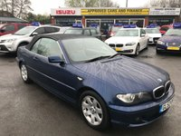 2003 BMW 3 SERIES 2.5 325CI SE 2d AUTO 190 BHP CONVERTIBLE IN METALLIC BLUE WITH CREAM LEATHER AND 104000 MILES. £2499.00