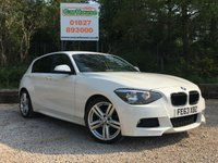 USED 2013 63 BMW 1 SERIES 2.0 116D M SPORT 5dr £30 Tax, PDC, Cruise