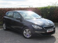 USED 2016 16 PEUGEOT 308 1.6 BLUE HDI S/S ACTIVE 5d FULL SERVICE HISTORY * 12 MONTHS  MOT * SATELLITE NAVIGATION * BLUETOOTH * CRUISE CONTROL