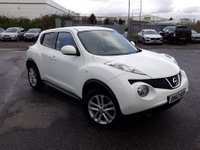 2012 NISSAN JUKE 1.5 TEKNA DCI 5 DOOR 110 BHP IN WHITE WITH 71000 MILES  WITH SAT NAV AND LEATHER INTERIOR. £6499.00