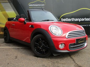 2014 MINI CONVERTIBLE 1.6 COOPER 2d AUTOMATIC 122 BHP CONVERTIBLE ONLY 11,000 MILES £11000.00