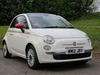 USED 2012 12 FIAT 500 1.2 LOUNGE 3d 69 BHP FINANCE UNDER £24 A WEEK