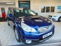 USED 2010 60 SUBARU OUTBACK 2.0 D SE NAVPLUS 5d 150 BHP FULL SERVICE HISTORY + A FULL MOT + SATELLITE NAVIGATION + BLUETOOTH + FULL BLACK LEATHER + HEATED SEATS + ALLOYS + CD RADIO + TOWBAR + ZENON LIGHTS + ELECTRIC WINDOWS