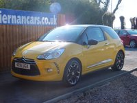 USED 2012 61 CITROEN DS3 1.6 DSTYLE PLUS 3d 120 BHP AUTO LIGHTS, FSH X 7 STAMPS