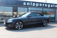 """USED 2009 AUDI A5 2.0 TFSI Cabriolet 2dr Fantastic looking A5 Convertible ready for the summer, Recently fitted with New 19"""" Alloys, Full Service History, Full Black Leather Interior"""