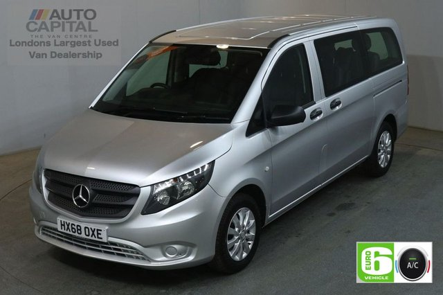 2018 68 MERCEDES-BENZ VITO 2.1 114 BLUETEC TOURER SELECT 136 BHP LWB LEATHER 9 SEATER LEATHER SEATS £26,500+VAT EURO 6