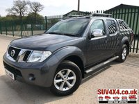 USED 2014 14 NISSAN NAVARA 2.5 DCI TEKNA 4X4 SHR DCB 1d AUTO 188 BHP SAT NAV LEATHER REAR CANOPY FSH (COMMERCIAL 9900+1980). 4WD. REAR CANOPY. SATELLITE NAVIGATION. STUNNING GREY MET WITH FULL GREY LEATHER TRIM. ELECTRIC HEATED SEATS, CRUISE CONTROL. CLIMATE CONTROL WITH AIR CON. RUNNING BOARDS. 17 INCH ALLOYS. COLOUR CODED TRIMS. PRIVACY GLASS. REVERSING CAMERA. ROOF RACK/RAILS. BLUETOOTH PREP. PAS. MONITOR. R/CD PLAYER. MFSW. MOT 03/20. FULL SERVICE HISTORY. PICK-UP & VAN CENTRE- LS23 7FQ. TEL 01937 849492 OPTION 3