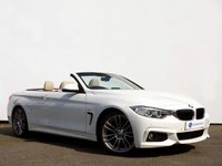 USED 2015 65 BMW 4 SERIES 2.0 420I M SPORT 2d AUTO 181 BHP HEAD UP DISPLAY with PROFESSIONAL SATELLITE NAVIGATION & NECK WARMER......