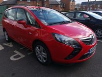 USED 2013 63 VAUXHALL ZAFIRA TOURER 2.0 EXCLUSIV CDTI 5d AUTO 162 BHP ONLY 22888 MILES, 7 SEATER, CHEAP TO RUN AND EXCELLENT FUEL ECONOMY! GOOD SPECIFICATION INCLUDING AIR CON AND PARKING SENSORS