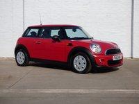 2013 MINI HATCH ONE 1.6 ONE 3d 98 BHP £5980.00
