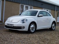 USED 2013 63 VOLKSWAGEN BEETLE 1.6 DESIGN TDI BLUEMOTION TECHNOLOGY 3d 104 BHP www.suffolkcarcentre.co.uk - Located a Reydon