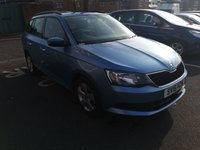 USED 2016 16 SKODA FABIA 1.2 SE TSI 5d 89 BHP CHEAP TO RUN, LOW CO2 EMISSIONS, LOW ROAD TAX AND EXCELLENT FUEL ECONOMY! AIR CONDITIONING! PARKING SENSORS! ALLOY WHEELS!
