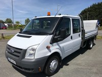 2011 FORD TRANSIT T350 2.4 LWB 6-SEATER DROPSIDE 115 6-Speed £9995.00