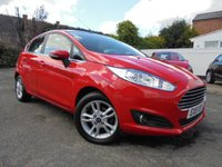 USED 2015 15 FORD FIESTA 1.2 ZETEC 5d 81 BHP DAB RADIO/ CD + FORD SYNC BLUETOOTH CONNECTION WITH VOICE CONTROL