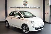 """USED 2011 61 FIAT 500 1.2 LOUNGE 3DR 69 BHP full service history FINISHED IN STUNNING WHITE WITH HALF LEATHER INTERIOR + FULL SERVICE HISTORY + BLUETOOTH + GLASS ROOF + AUX/USB PORT + ONLY £30 YEARLY ROAD TAX  + MULTI-FUNCTIONAL STEERING WHEEL + AIR CONDITIONING + 16"""" ALLOY WHEELS"""