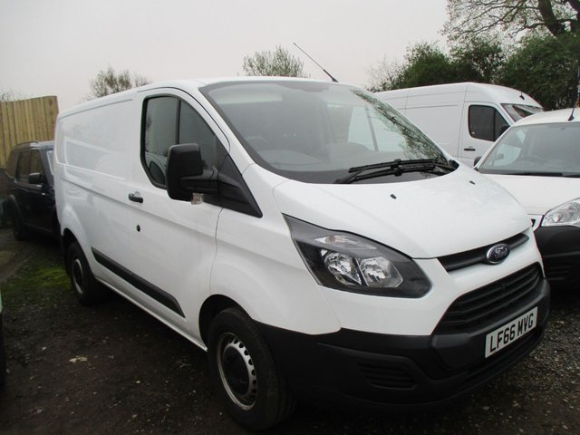 2016 66 FORD TRANSIT CUSTOM 2.2 TURBO DIESEL 290 L-ROOF L1 100 BHP MANUAL WHITE