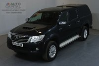 USED 2014 64 TOYOTA HI-LUX 2.5 ICON 4X4 D-4D DCB 142 BHP AIR CON REVERSE CAMERA, ELECTRIC WINDOWS, MIRRORS, FOLDING MIRRORS