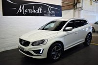 USED 2015 15 VOLVO XC60 2.0 D4 R-DESIGN LUX 5d AUTO 178 BHP GREAT VALUE - ONE OWNER - 6 STAMPS TO 112K - LEATHER - PRIVACY - POWERBOOT - DETACHABLE TOWBAR
