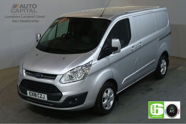 2018 18 FORD TRANSIT CUSTOM 2.0 290 LIMITED 130 BHP L1 H1 SWB EURO 6 AIR CON VAN