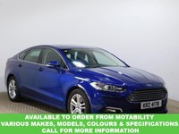 USED 2016 FORD MONDEO 2.0 ZETEC ECONETIC TDCI 5d 148 BHP This VEHICLE CAN BE ORDERED FROM MOTABILITY