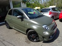 USED 2016 66 FIAT 500 0.9 TWINAIR S 3d 85 BHP NEW SHAPE Rare New Shape TwinAir S in Marching Green Matt Finish with yellow and black interior and satin finish! Full Service History (Fiat + ourselves), One Lady Owner from new, Minimum 8 months MOT, Excellent fuel economy! ZERO Road Tax! Balance of Fiat Warranty until October 2019