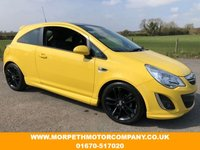 USED 2012 12 VAUXHALL CORSA 1.2 LIMITED EDITION 3d 83 BHP ***RARE CANARY YELLOW***