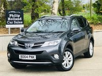 USED 2014 64 TOYOTA RAV4 2.2 D-4D INVINCIBLE 5d 150 BHP AWD 4WD Full leather, Heated seats, Reverse camera, Cruise control